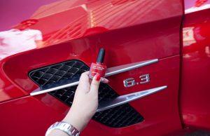 Car Scratch using nail polish